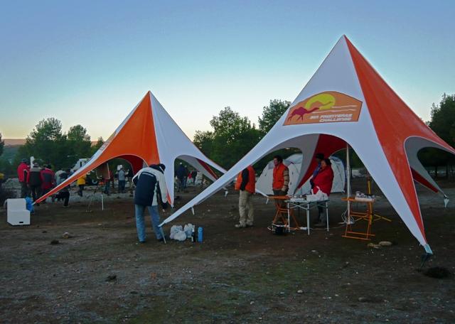 El campamento de la meta Etapa 1