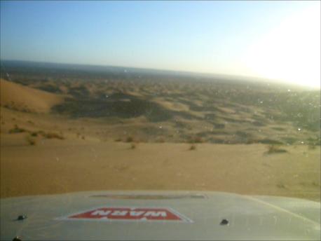 Una vista desde el Wp 46, en la duna más alta