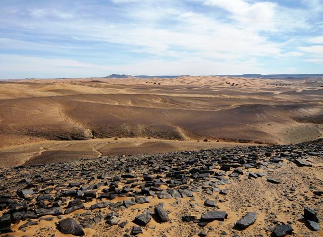 Buenas vistas camino del Erg Znargui