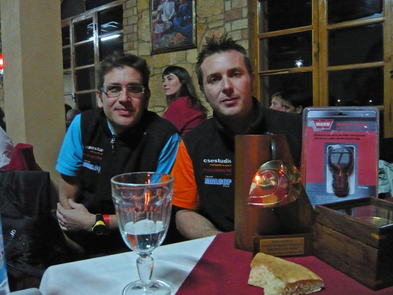 Juan Pablo y Germán con su tercer  premio
